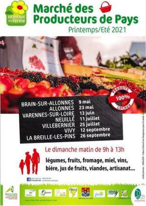 Marché des producteurs du Pays - Neuillé (49)