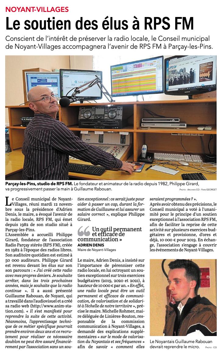 Les élus apportent leur soutien à la radio locale RPSFM