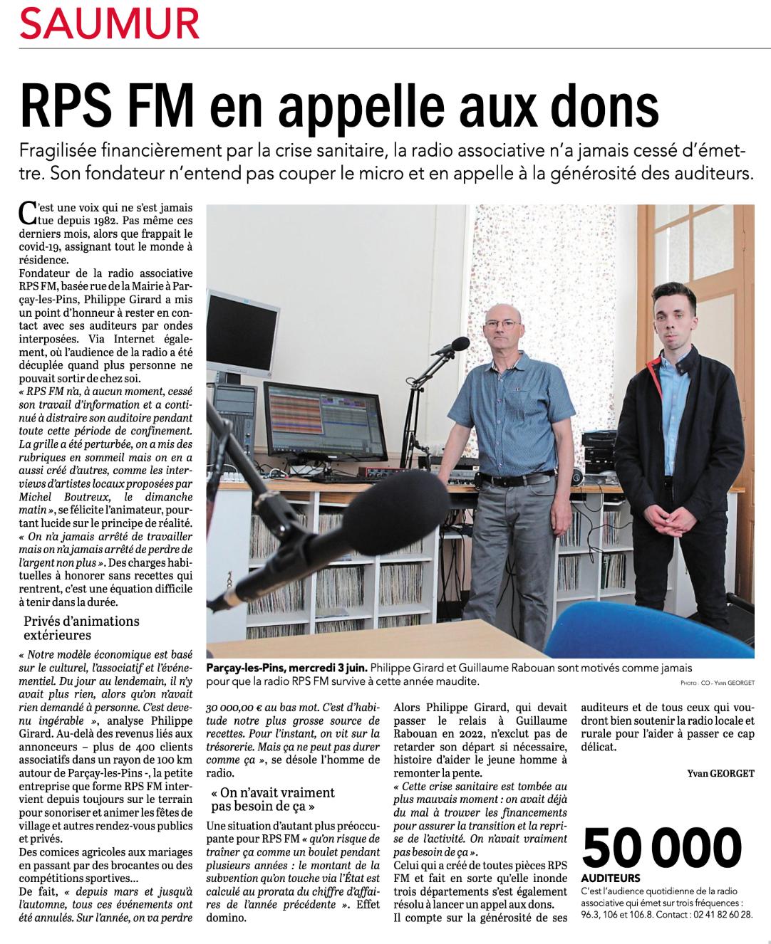 Saumurois. À Parçay-les-Pins, la radio RPS FM en appelle aux dons