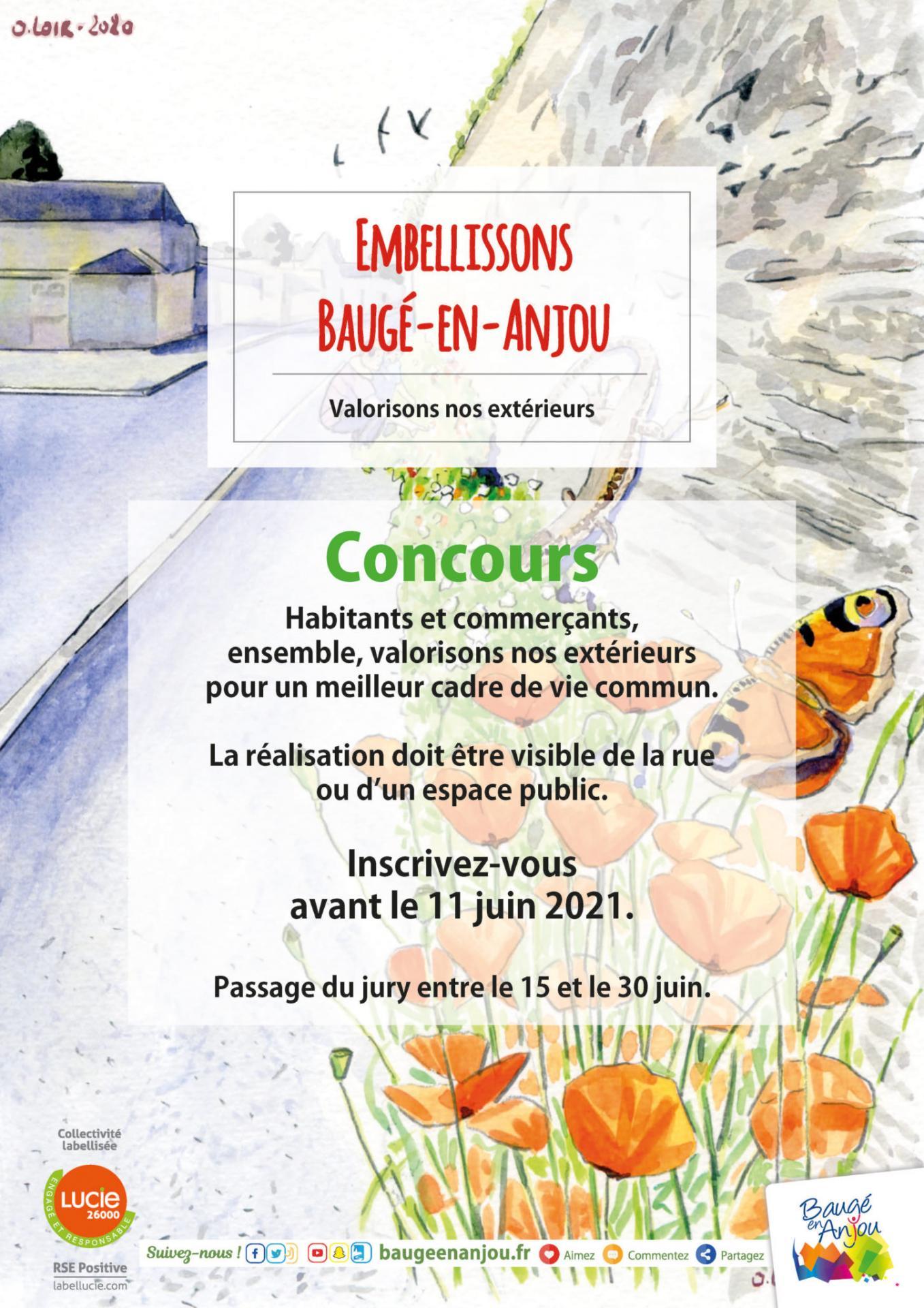 L'ACTU : BAUGÉ-EN-ANJOU : LA COMMUNE INVITE HABITANTS ET COMMERÇANTS À FLEURIR LES RUES