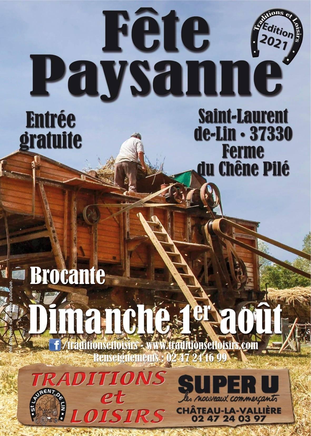 Fête Paysanne et Brocante - 1er août - Saint-Laurent-de-Lin (37)